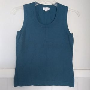 Charter club knitted teal blue sleeveless top